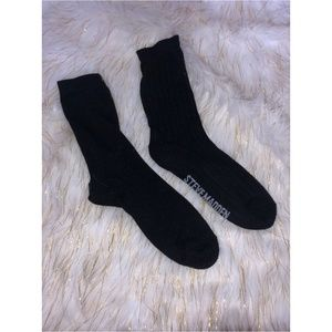 Steve Madden Black Logo Quarter Socks